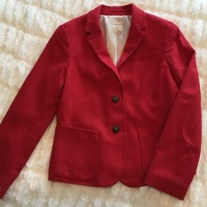 GAP Red Academy Blazer Jacket with Elbow Patches